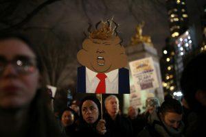 Prieš D. Trumpo inauguraciją – didelis protestas Niujorke