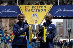Bostono maratone triumfavę Kenijos bėgikai laimėjo po 150 tūkst. dolerių