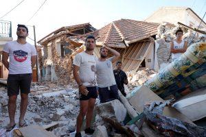 Žemės drebėjimo nuniokotoje Graikijos saloje – nepaprastoji padėtis