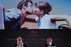 Kanų kino festivalio organizatoriai demonstruoja paramą režisieriams disidentams
