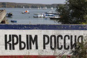 Spjūvis Ukrainai: Rusijos prezidento rinkimai vyks Krymo aneksijos dieną