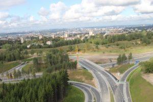 Vilniaus tarptautinio oro uosto ir Žirnių gatvės jungties statybos darbai baigti