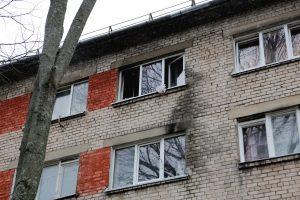 Sulupės gatvėje per gaisrą nukentėjo žmogus