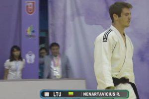 R. Nenartavičius Taivane iškovojo dziudo varžybų sidabro medalį
