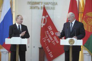 Baltarusijos prezidentas išvyko į Rusiją derėtis su V. Putinu