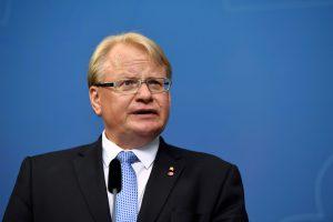 Lietuvoje lankosi Švedijos gynybos ministras