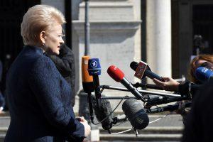 D. Grybauskaitė: Lietuva didins indėlį misijose Artimuosiuose Rytuose