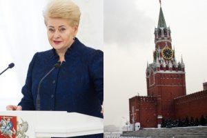 Kremlius atsakė prezidentei: pasiryžimą gerinti santykius vertinsime pagal veiksmus