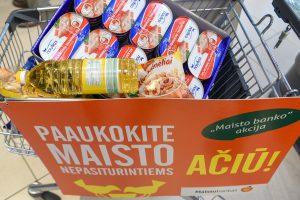 Lietuvos miestuose ir miesteliuose renkamas maistas skurstantiems