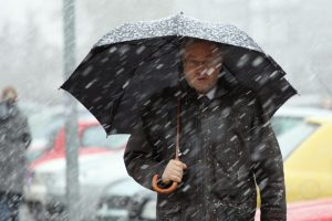 Pasitraukiantis lietus atneš šaltuką