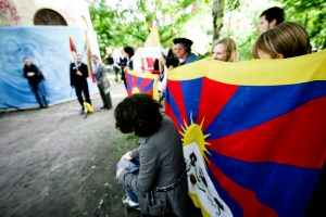 Tibeto skvere Užupyje sutinkami Naujieji metai