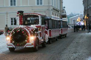 Kalėdų traukinukas baigia darbą
