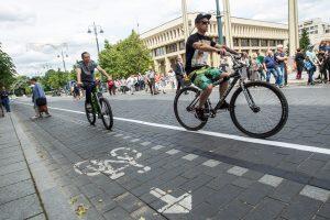 Gedimino prospekte – daugiau erdvės dviratininkams