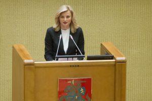 Seimo Etikos ir procedūrų komisijai vadovaus R. Tamašunienė