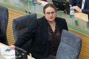 A. Širinskienė prakalbo apie parlamentarų atostogų modelį