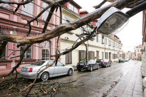 Ugniagesiai įspėja: naktį gali kilti stiprus vėjas