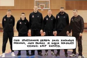 Lietuvos krepšininkai kviečia sportuoti be patyčių