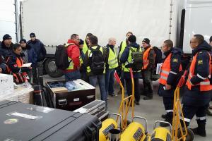 Lietuvos gelbėtojai mokosi teikti pagalbą po žemės drebėjimo