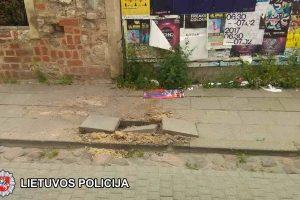 Apleistoje sostinės statybvietėje nugriaudėjo sprogimas