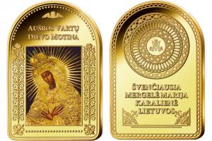 Garsiausi Lietuvos Dievo Motinos paveikslai įamžinti aukse