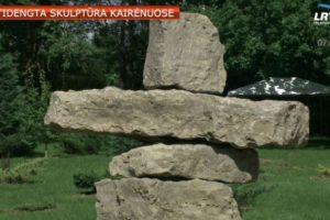 """Atidengta """"Inukšuko"""" skulptūra diplomatiniams Kanados ir Lietuvos santykiams"""