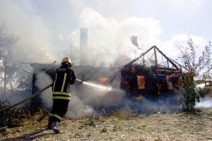 Ignalinos rajone gaisro metu nukentėjo moteris