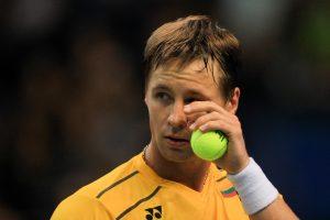 Tenisininkas R. Berankis ATP reitinge prarado 7 pozicijas