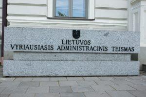 Per metus neatsirado norinčio vadovauti Vyriausiajam administraciniam teismui
