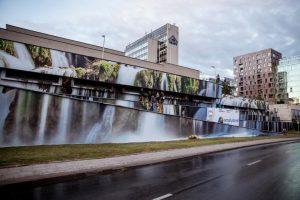 Naujas traukos objektas Vilniuje – šniokščiantis krioklys