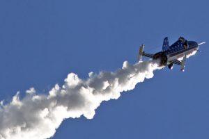 JAV kaskadininkas savadarbe raketa perskrido Gyvačių kanjoną