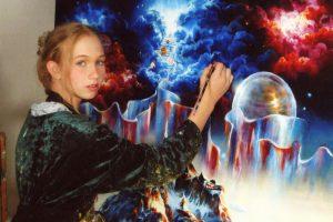 Lietuvių kilmės mergina Amerikoje išgarsėjo gydančiais paveikslais