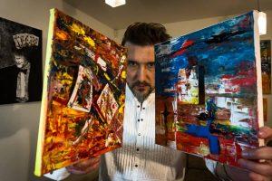 Magas A. Gaičiūnas gimtadieniui nusitapė 13 mistiškų paveikslų