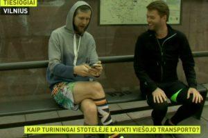 I. Bakėjus ir I. Krupavičius parodė, kaip sportuoti laukiant troleibuso