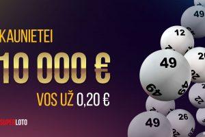 """""""Superloto"""" kaunietei atnešė 10000 eurų laimėjimą!"""