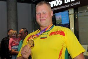 Kauno oro uoste – pasaulio čempiono A. Gudžiaus sutiktuvės