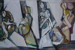 """""""Smėlio žmonės"""": A. V. Burbos grafikos ir tapybos paroda"""