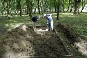 Archeologai Skulptūrų parke kapų neardys