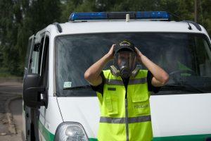 Rygos regione driokstelėjus sprogimui nukentėjo policininkas