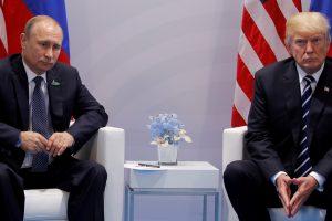 D. Trumpas ir V. Putinas visgi nesusitiks