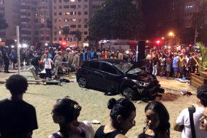 Rio de Žaneire automobiliui įsirėžus į minią žuvo kūdikis, 17 žmonių – sužeisti