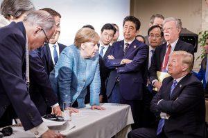 A. Merkel ir D. Trumpo nuotrauka gali patekti į istorijos vadovėlius