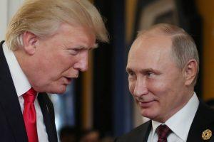 V. Putinui – padėka iš D. Trumpo lūpų