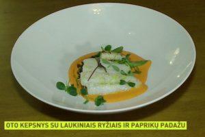 Šefas pristato: žuvis su paprikų padažu
