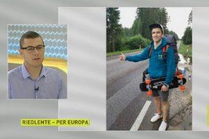 Įkvepiantis lietuvio žygis Europoje: 19 miestų keliaujant autostopu ir riedlente