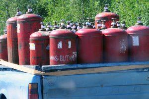 Griežtinamas senų dujų balionų naudojimas