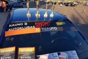 """""""H2AUTO"""" greituminio slalomo čempionate aiškėja lyderiai"""