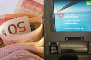 Skaitytojas: SEB bankomatas pinigus prarijo, o problemos spręsti niekas neskubėjo