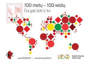 Šimtas žmonių, buriančių pasaulio lietuvius, bus įamžinti pašto ženkluose
