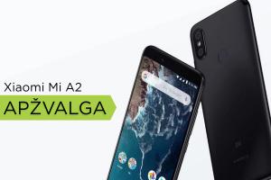 """Pažangi kamera ir procesorius už juokingus pinigus: """"Xiaomi Mi A2"""" apžvalga"""