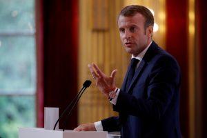 E. Macronas: ES saugumas turi nebepriklausyti nuo JAV